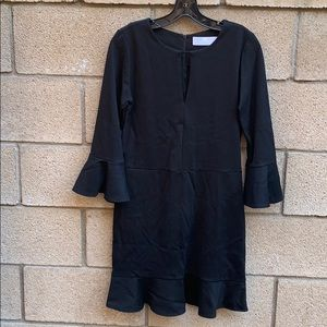Amanda Uprichard black bell sleeve dress